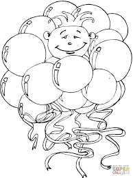 balloons with clown coloring page free printable coloring pages