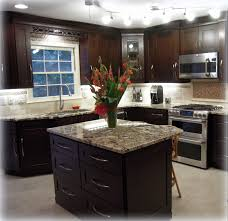 Maple Shaker Style Kitchen Cabinets Completed Kitchen Mocha Maple Shaker Cabinets Exotic Granite