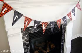 printable halloween banner printable plaid halloween banner u2013 august december home