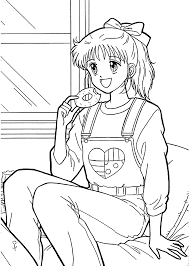 miki from marmalade boy coloring pages for kids printable free