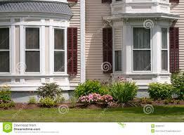 new england house windows royalty free stock photography image bay