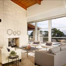 brick wall panels living room modern with commercial window wall