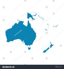 Blank Map Of Oceania by Map Oceania On White Background Flat Stock Vector 434769370