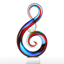 Music Home Decor by Best And Cheap Multicolored Tooarts Music Note Glass Sculpture
