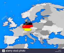 Political Map Europe by Political Map Europe Countries German Stock Photos U0026 Political Map