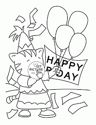 happy birthday card for kids coloring page for kids holiday
