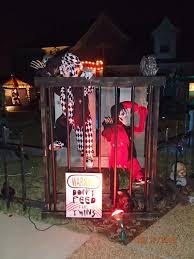 brown asylum outdoor halloween decorations carnival circus