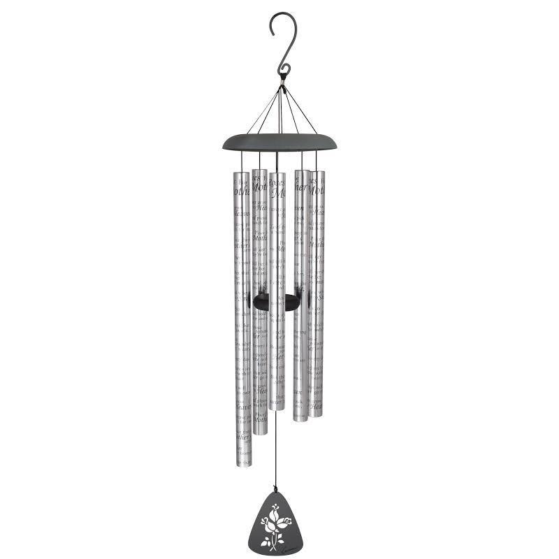 Carson Home Accents 44 Inch Roses For Mother Sonnet Outdoor Metal Wind Chime