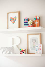 Simple Wall Shelves Design Kids Bedroom Chic Kids Room Decoration With White Wall Shelves