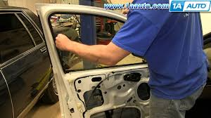 how to install replace front manual window regulator 2002 07 ford