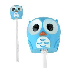 accessorygeeks com kikkerland blue owl toothbrush holder keeps