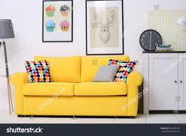 Yellow Interior by Yellow Sofa Living Room Stock Photo 401538130 Shutterstock