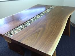 Dining Room Tables Seattle Live Edge Black Walnut Slab Conference Table Rugged Cross Fine