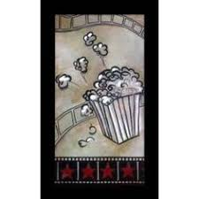 Home Movie Theater Wall Decor Vintage Look Movie Concessions Film Wall Art Hollywood Theater