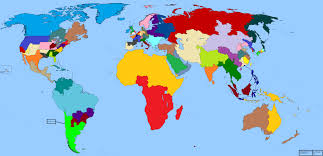 Colored World Map by Maptitude U2014 This Map Divides The World Into Regions With Equal