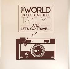 online get cheap camera wall decal aliexpress com alibaba group the world is so beautiful quotes camera wall sticker art vinyl home decor wall decal diy
