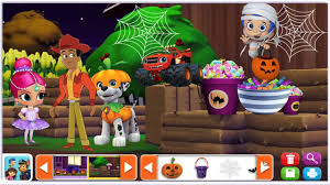 nick jr sticker pictures halloween with bubble guppies paw patrol