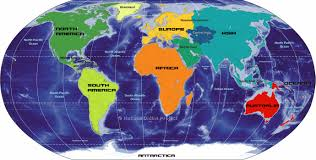 Map Of The South America by Big Map Of Continents Of The World Nations Online Project