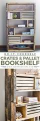 Free Wooden Bookcase Plans by Diy Rustic Pallet Bookshelf