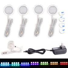 under cabinet led downlight spotlights kit 24 key rf remote