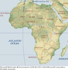 Physical Map Africa by World Tourism Africa