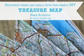 Map Grid Treasure Map Grid Activity My Little Poppies