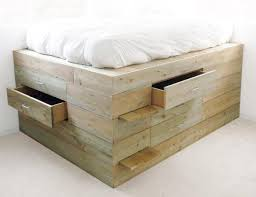 platform beds with drawers bed frames and headboards storage