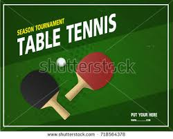 Table Tennis Tournament by Ping Pong Tournament Table Tennis Background Stock Vector