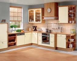 fresh images of kitchen cabinets design with orange base and wall