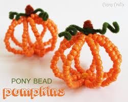 halloween kids gifts pony bead pumpkins halloween kid craft pony beads pony and beads