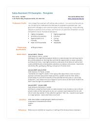 Resume Retail Template Sample Resume For Retail Sales Assistant Sales Assistant Cv