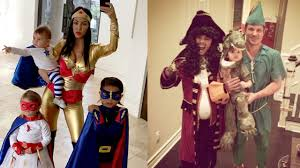 Family Of 3 Halloween Costume by Celebrities Hilary Duff Chris Hemsworth In Trouble Over Offensive