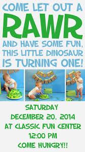 1st Year Baby Birthday Invitation Cards Best 25 Dinosaur First Birthday Ideas On Pinterest Dinosaur