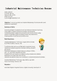 Maintenance Technician Resume Sample by Industrial Maintenance Technician Cover Letter