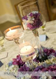 Purple Floating Candles For Centerpieces by Floating Candle Centerpieces Blue U0026 Purple Hydrangea Wedding