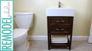 ikea hack small bathroom vanity building tutorial youtube
