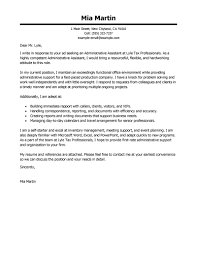 Cover Page For Job Resume by Best Administrative Assistant Cover Letter Examples Livecareer
