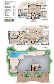 oceanside house plan floor plan with lanai outdoor kitchen u0026 pool