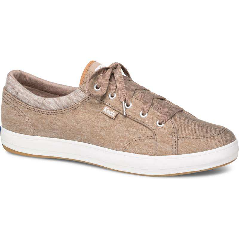 Keds Center Jersey / Knit Taupe Ankle-High Fabric Sneaker 8.5M