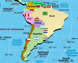 Physical Map Of South America by Map Of South America South America Countries Rough Guides Highly