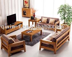 Wooden Sofa And Furniture Set Designs For Small Living Room - Solid oak living room furniture sets