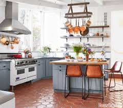 terracotta color scheme kitchen 150 beautiful designer kitchens for every style gray cabinets