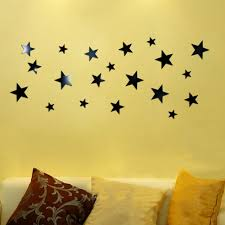 compare prices on silver star stickers online shopping buy low 1set 20pcs black gold silver stars mirror acrylic wall sticker diy removable wall