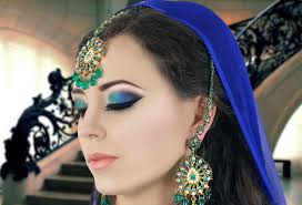 Indian Halloween Makeup Green And Blue Smokey Eye Makeup Tutorial Asian Indian Bridal