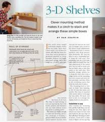 Wall Mounted Shelves Wood Plans by 3 D Shelves Enliven Any Room Woodworking Pinterest Shelves