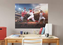 mookie betts montage mural wall decal shop fathead for boston mookie betts montage fathead wall mural
