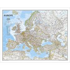 Show Map Of Europe by Europe Classic Wall Map Laminated National Geographic Store