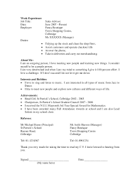 Samples Of Resumes For Highschool Students by Tennis Instructor Cover Letter