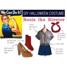 Patriotic Halloween Costumes Diy Halloween Costume Rosie Riveter Polyvore