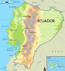 Map Of The South America by Large Physical Map Of Ecuador With Major Cities Ecuador South